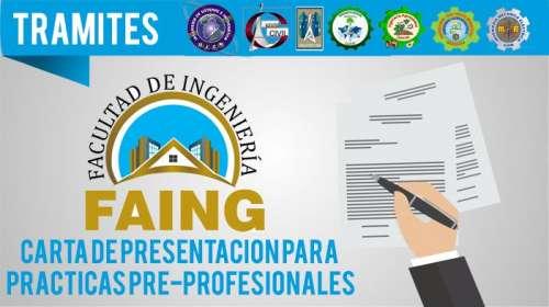 Carta de Presentación para Prácticas Pre-Profesionales