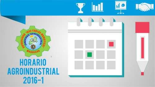Horario Agroindustrial 2016-1