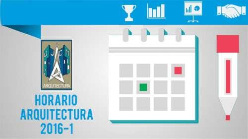 Horario Arquitectura 2016-1