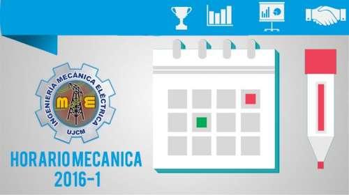 Horario Mecánica 2016-1