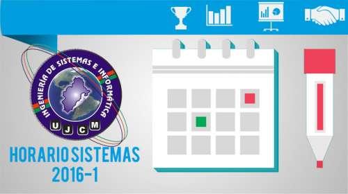 Horario Sistemas 2016-1
