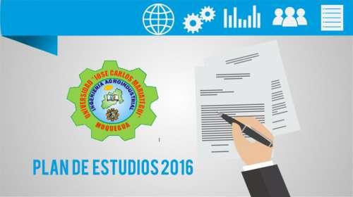 Plan de Estudios 2016 Ingeniería AgroIndustrial