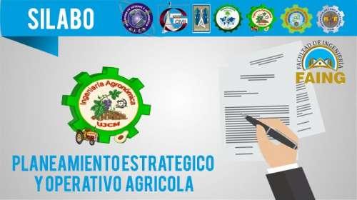 SIlabo Planeamiento Estratégico y Operativo Agrícola