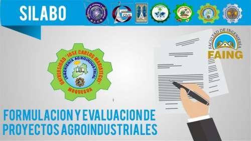 Silabo Formulación y Evaluación de Proyectos Agroindustriales